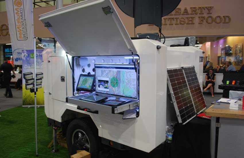 Self Contained Communications Trailer demonstrates capability, portability